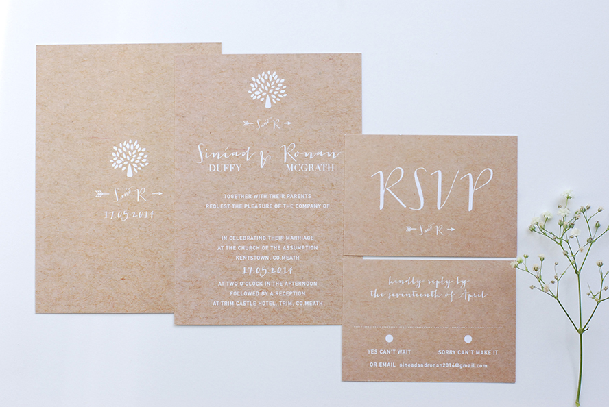 Wedding stationery by Little Deets